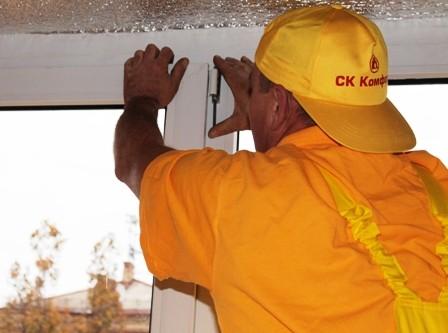 Комплексный ремонт створки окна.