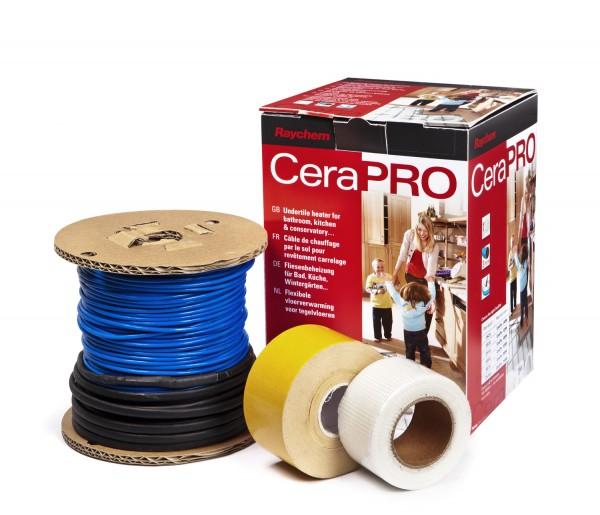 Комплект CeraPro. Ультратонкий кабель на катушке для монтажа в слой плиточного клея.