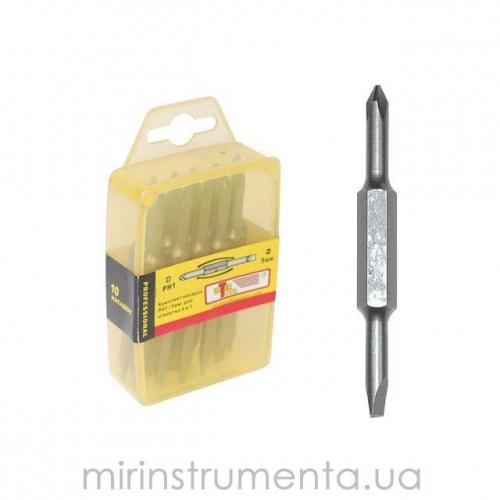 Комплект отверточных насадок PH2/SL6мм 4 в 1 INTERTOOL VT-0062
