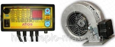 Комплект поддува (Вентилятор контроллер) автоматика для твердотопливного котла