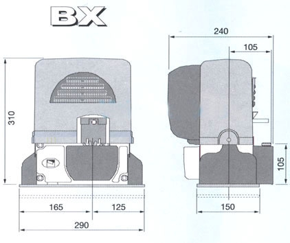 Комплект привода CAME BX-78, с платой контроллера ZBX74-78, створка до 800 кг, усилие 800N