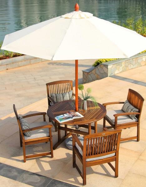 Комплект садовой мебели Ядвига (стол 4 стула зонт)
