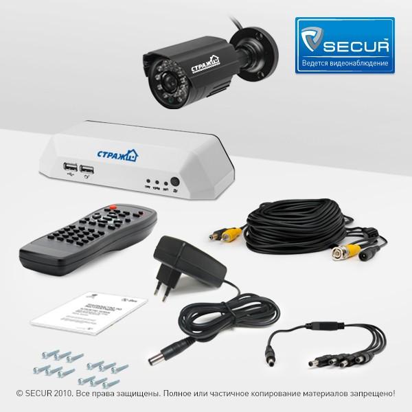 Комплект з однієї камери, реєстратора, комплектуючих для швидкого монтажу