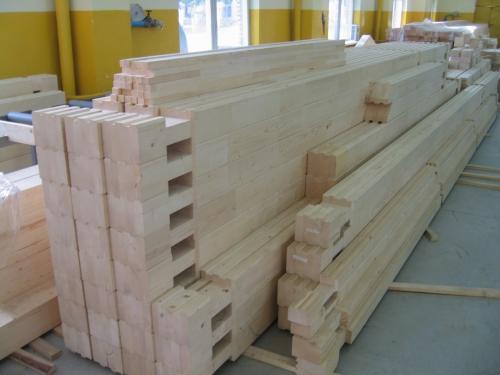 комплекты деревянных домов из клееного бруса с зарезанными чашами, строим деревянные дома под ключ