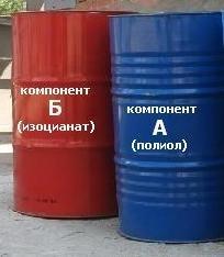 Компоненты (А-полиол и Б-изоцианат) для получения пенополиуретана (напыление, заливка)