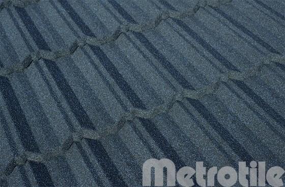 Композитная металлочерепица Metroclassic Stone Blue 1330x410 мм