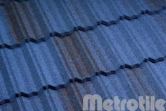 Композитная металлочерепица Metroclassic Thunderblue 1330x410 мм