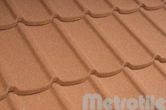 Композитная металлочерепица Metromistral Terra-Cotta 1305x415 мм
