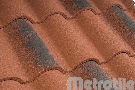 Композитная металлочерепица Metroromana Antique Red 1165x415 мм