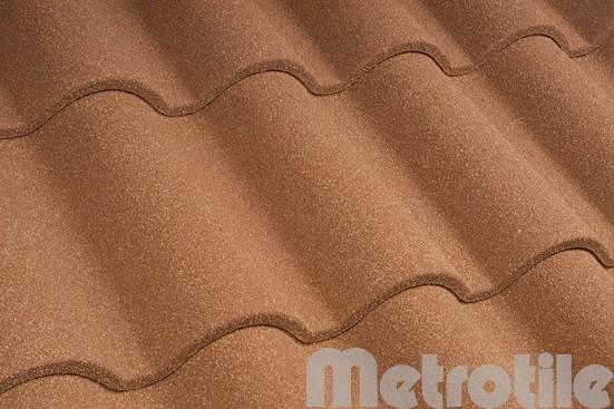 Композитная металлочерепица Metroromana Terra-Cotta 1165x415 мм
