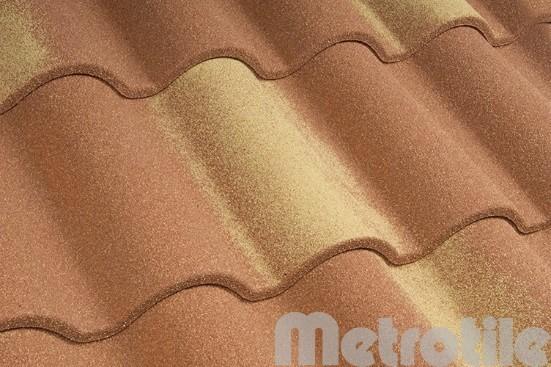 Композитная металлочерепица Metroromana Tuscany 1165x415 мм