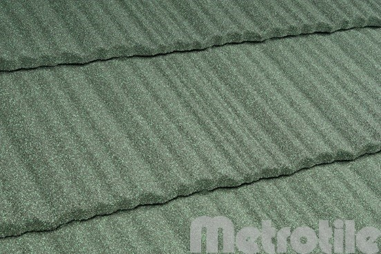 Композитная металлочерепица Metroshake Greenstone 1325x410 мм
