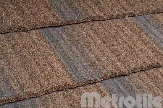 Композитная металлочерепица Metroshake Walnut 1325x410 мм