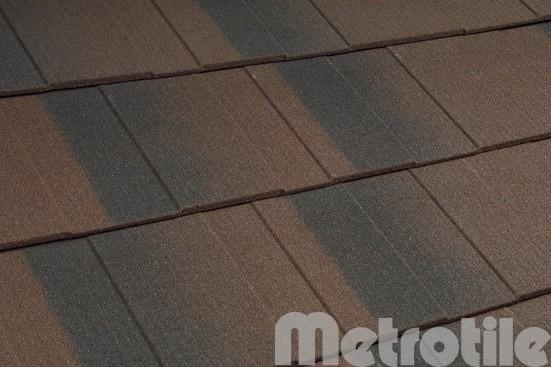 Композитная металлочерепица Metroshingle Brown-Black 1335x300 мм