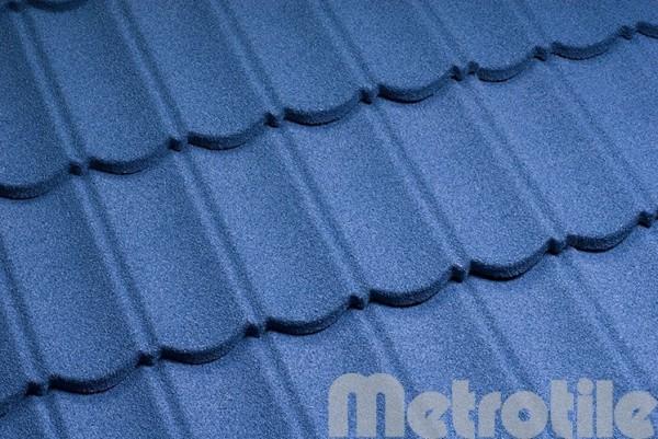Композитная металлочерепица Metrotile Blue 1330x410 мм