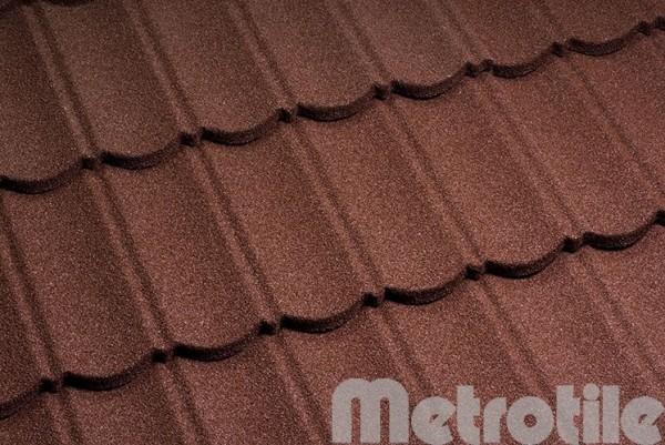 Композитная металлочерепица Metrotile Bordeaux 1330x410 мм