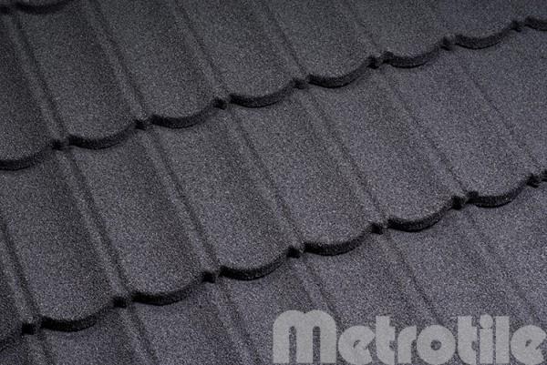 Композитная металлочерепица Metrotile Charcoal 1330x410 мм