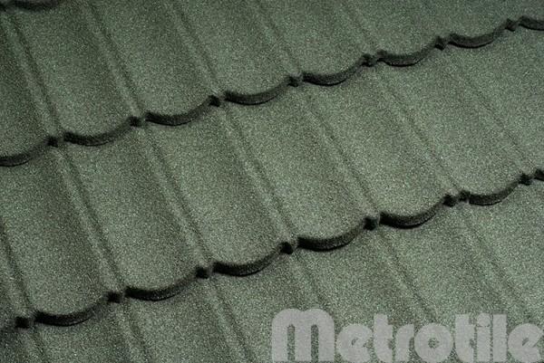 Композитная металлочерепица Metrotile Greenstone 1330x410 мм