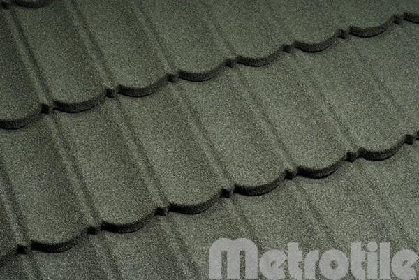 Композитная металлочерепица Metrotile Moss Green 1330x410 мм