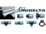 Компрессионные (зажимные) фитинги UNIDELTA для ПЭ труб - D от 20 до 110 мм