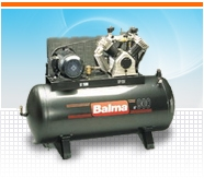 Компрессора BALMA с производительностью на выходе от 130 л/мин до 2420 л/мин.