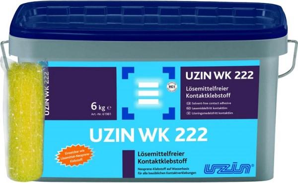 Контактный клей UZIN WK 222 на водной основе, для всех обычных строительных случаев. (фасовка по 1, 6 и 12 кг)