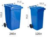 Фото  1 Контейнер для мусора на колесах 120 литров коричневый бак емкость Тип А 100 150 1985554