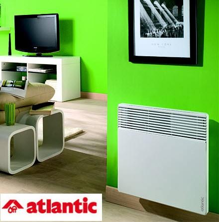 Конвектор Atlantic F117 DESIGN 1000W для более экономного и удобного использования оснащен электронным термостатом