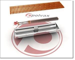Конвектор внутрипольный POLVAX серии КЕМ с естественной конвекцией (без вентилятора и 2-мя теплообменниками)