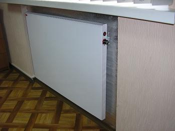 Конвектор. Поддержание заданной температуры происходит при помощи встроенного термостата.