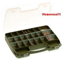 Коробка 2-х сторонняя 14-46 ячеек 2546 (28 съемных перегородок) - с ручкой для удобства переноски