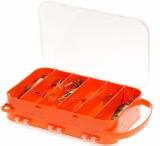 Коробка 2-х сторонняя 15 ячеек 2515 С ушками для крепления ремня для переноски коробки на шее