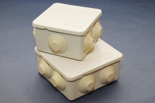 Коробки электроустановочные для наружного и внутреннего монтажа.11 типоразмеров