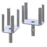 Корона применяется для фиксации продольных балок и обеспечивает надежную опору деревянной, двутавровой балки.