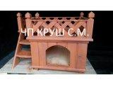 Фото 1 деревянный домик для кота 338413