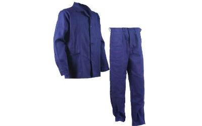 Костюм рабочий диагональ: куртка прямого силуэта с застежкой на пуговицах, брюки прямого покроя, гульф на пуговицах