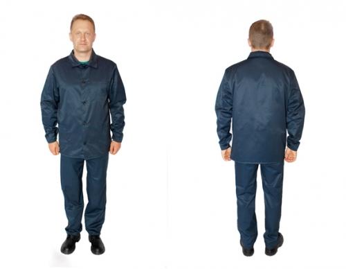 Костюм рабочий. Cостоит из куртки и брюк. Материал - Грета пл. 250 г/м