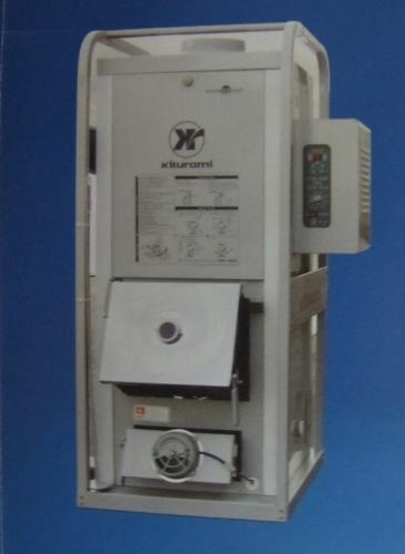 Котел двухконтурный на два вида топлива(уголь дизель)Kiturami. Мощность-35 кВт, На резервном(дизеле)19к Вт