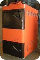 Котел пиролизный твердотопливнй водогрейный СТС-15