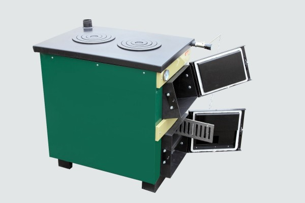 Котел-плита Тивер 18 кВт с двокамфорной плитой(толщ.металла 5мм)