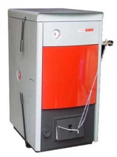 Котел твердотопливный DOR Трехходовой теплообменник из жаропрочной стали. Мощность: 13-45кВт