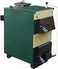 Котел твердотопливный Тивер 30 кВт. Котел оборудован термостатическим регулятором тяги.