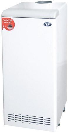Котлы газовые в Донецке, напольный газовый котел Стандарт-класса, РОСС - АОГВ - 12 Двухконтурный