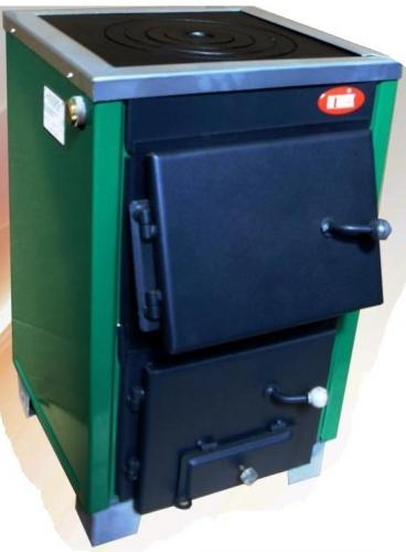 КОТВ-14П твердотопливный котел с чугунной плитой для приготовления пищи.