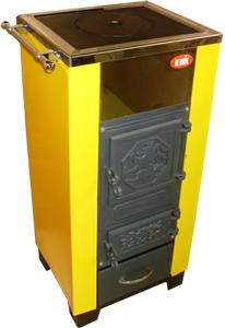 КОТВ-18 VIP котел твердотопливный с чугунными дверцами, твердотопливные котлы, котлы на твердом топливе