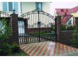 Фото  1 Ворота для загородного дома (решётчатые, сплошные, кованые) 1433932