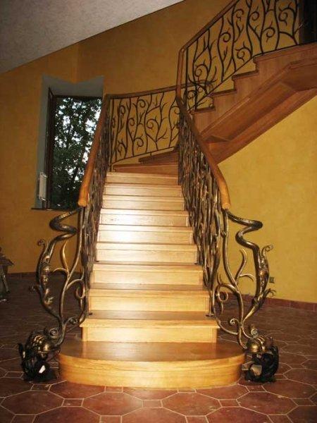 Фото 1 Кованые перила для лестницы, крыльца, уличные, в доме, на балкон Фото 336395