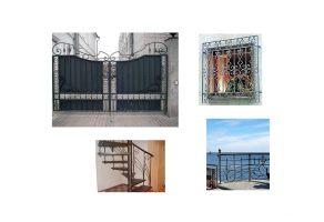 Кованые изделия - решетки, ворота, лестницы, перила.