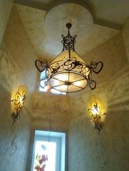 Кованые люстры, бра, светильники