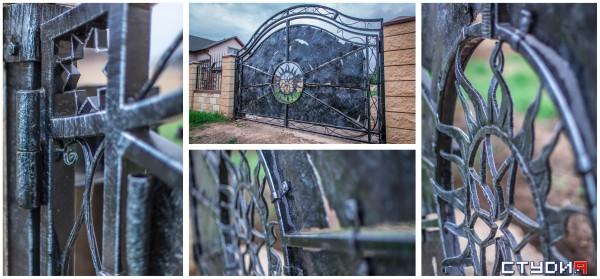 Кованые распашные ворота от кузнечной мастерской Live Metall под заказ в Днепропетровске